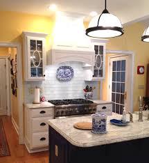 Blue Backsplash Kitchen Home Element Swish Glass Subway Tile Soft Blue Backsplash With