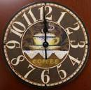 Coffee Cafe Clock - Rustic Antique Look : Rustic Home Decorating ...