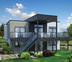 exterior modern house plans for sloped lots modern house design