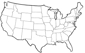 States Of United States Map by Outline Of United States Map Map Of Usa