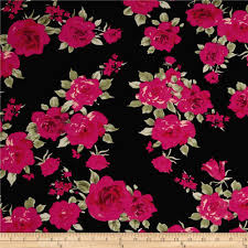 ponte de roma floral prints black fuchsia green discount