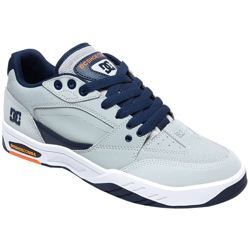 DC Maswell ADYS100473 Gray Nubuck Leather Athletic Skate Shoes