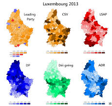 Luxembourg Map Luxembourg Elections 2013 Maps U0026 Cartographic Material