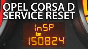 how to reset service inspection opel corsa d insp vauxhall