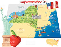 New York State Map by Albany New York State Clip Art Vector Images U0026 Illustrations Istock