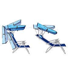 Luxury Beach Chair In The Shade Canopy Beach Chair