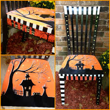birthday halloween decorations a halloween chair that i painted to sell at my booth for halloween