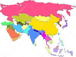 Colored World Map by Colored Map Of World With Countries Borders U2014 Stock Vector