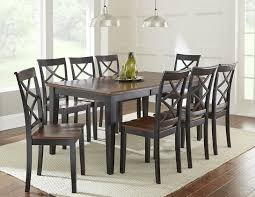 Steve Silver Dining Room Furniture Steve Silver Rani 9 Piece Dining Set With Two Tone Brown Black Top