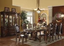 Dining Room Sets With Round Tables Elegant Formal Dining Room Furniture Dark Cherry Finish Vendome