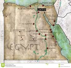 Map Egypt Map Of Egypt Stock Photos Image 32668923