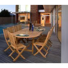 Teak Dining Room Set Amazonia Bergen 11 Piece Teak Patio Dining Set Sc Bergen The