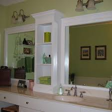 bathroom upgrade installing u0027built in u0027 shelving and trimming out