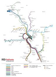 Metro Lines Map by Rtd Fastracks