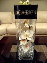 Black Centerpiece Vases by Black White U0026 Blush Table Decor Centerpieces Centerpiece
