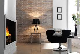 apartment bedroom faux brick interior walls wall gallery design