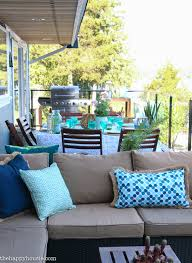 Homesense Cushions Beachy Boho Outdoor Dining Room Deck Reveal Part Two The