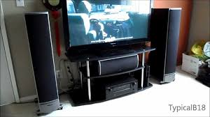 5 1 home theater system polk audio rti 5 1 home theater setup demo youtube
