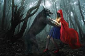free illustration red riding hood wolf free image