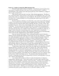 Dental School Application Essay Writing Reflection Essay