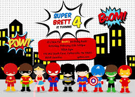 Online Invitation Card Design Free Superhero Online Invitations Disneyforever Hd Invitation Card