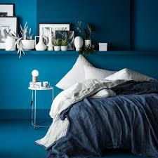 chemin de lit en lin ensemble couvre lit jeté de lin marine blanc cerise