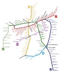 Metro Lines Map by Santiago Metro Map Chile