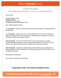 Resumes For Jobs Examples by Thank You Letter Template Sample And Writing Guide Resume Genius