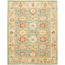 Area Rug 12 X 15 Shop Safavieh Heritage Peshwar Light Blue Ivory Rectangular Indoor