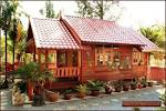 แบบบ้านไม้สักทรงไทยเรียบง่ายมีเอกลักษณ์ | homedec.in.th บ้านและสวน