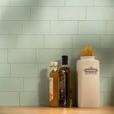Backsplash Tile For Kitchen Peel And Stick Aspect Peel And Stick Backsplash 3in X 6in Morning Dew Glass