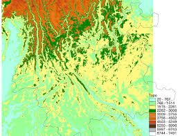 China Topographic Map by Biodiversity Conservation And Sustainable Development In Southwest