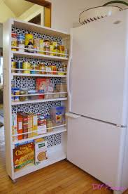 diy rolling pantry tutorial diy home improvement pinterest