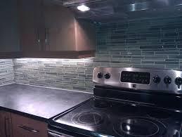 Blue Backsplash Kitchen Fascinating Modern Kitchen Design Ideas With Black Wood Cabinet