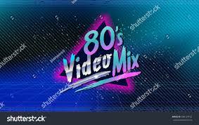 80s video mix retro style disco stock vector 598124162 shutterstock