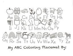 abc coloring placemat preschool pinterest placemat