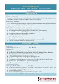 Sample Bookkeeping Resume by Bookkeeper Resume Bookkeeper Resume Examples Entry Level