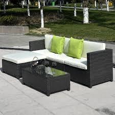 Wicker Outdoor Furniture Sets by 5 Pc Wicker Rattan Sofa Cushioned Set Outdoor Furniture Sets