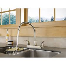 delta p299568lf ss choice two handle kitchen faucet in stainless