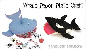 paper plate whale craft youtube