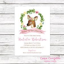 deer baby shower invitation woodland baby shower invitation