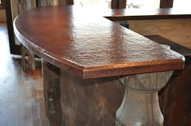 home bar with copper top rdcny