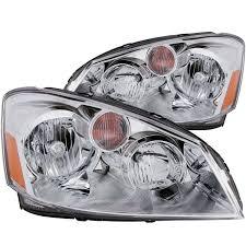 nissan altima 2005 length anzo usa nissan altima 05 06 crystal headlights chrome
