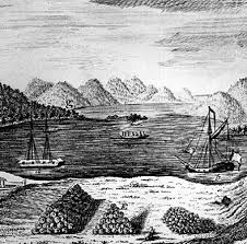 A view of Lake George  New York  looking south from a small fort erected Encyclopedia Britannica