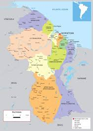 Map Of The South America by Large Detailed Political And Administrative Map Of Guyana With