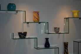 Kitchen Shelf Decorating Ideas Fresh Modern Glass Shelves Wall Mounted 83 About Remodel Kitchen