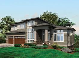 Modern Style Garage Plans Contemporary Prairie With Daylight Basement 69105am