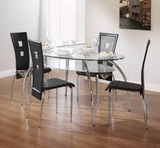 Kitchen Table Bar Style Kitchen Glass And Steel Dining Table Modern Glass Dining Set