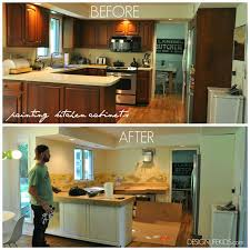 Painted Kitchen Ideas by Painted Kitchen Cabinet Ideas Before And After Kitchen Crafters