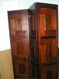 retractable room divider portable room dividers design made from varnished wooden plank